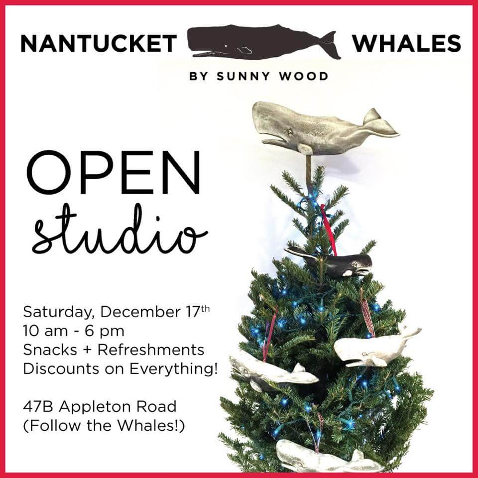 sunny wood open studio nantucket whale